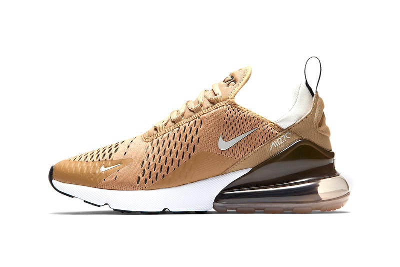 fe8f8dd41303 Nike Air Max 270 Elemental Gold white light bone summer 2018 release  footwear sneakers