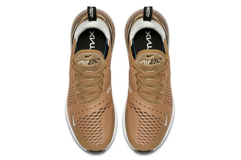 Nike Air Max 270 Elemental Gold white light bone summer 2018 release footwear sneakers
