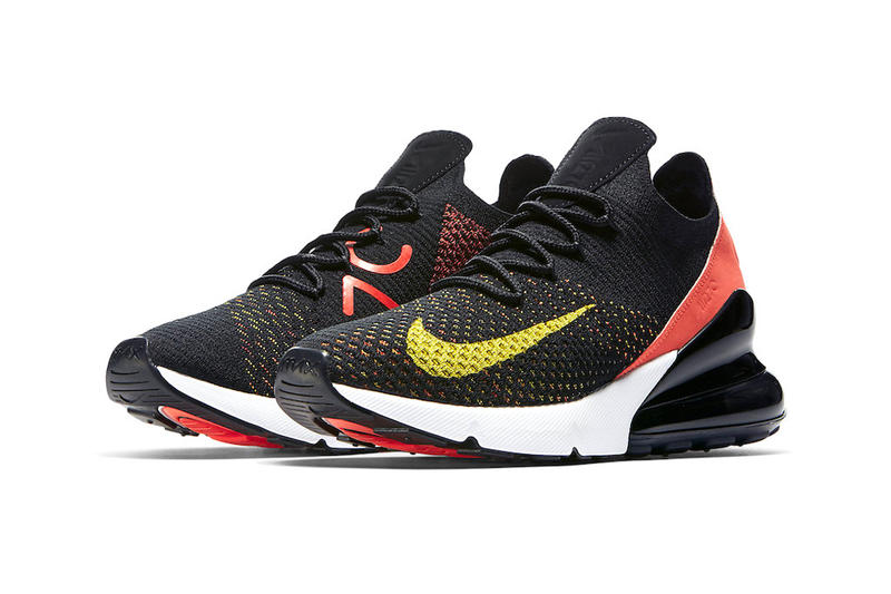 Nike Air Max 270 Flyknit Multicolor Release Red Black Yellow