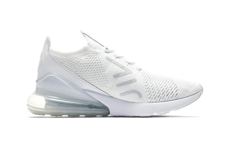 Nike Air Max 270 Flyknit Triple White grey release info sneakers footwear