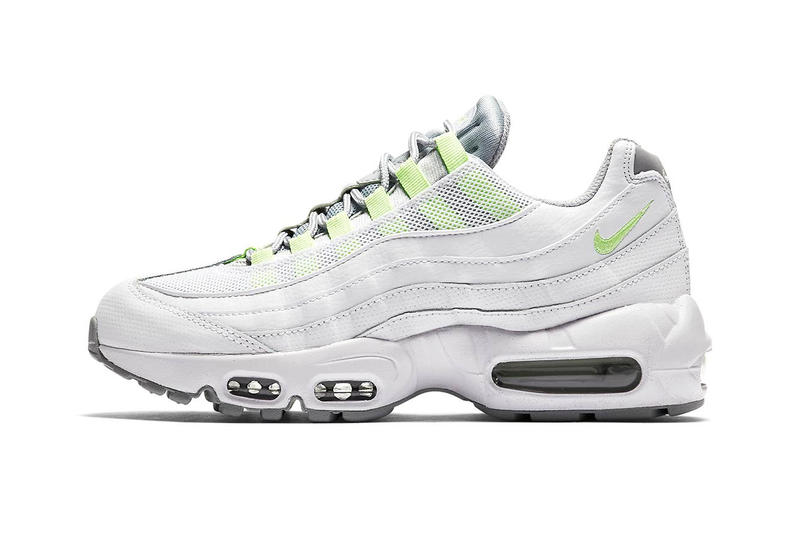 uk availability 33fba 73437 Nike Air Max 95 Neon yellow white Release date white air max unit outsole  neon swoosh