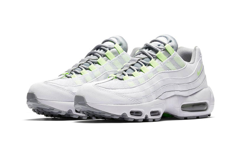 uk availability bfe0b 823c1 Nike Air Max 95 Neon yellow white Release date white air max unit outsole  neon swoosh