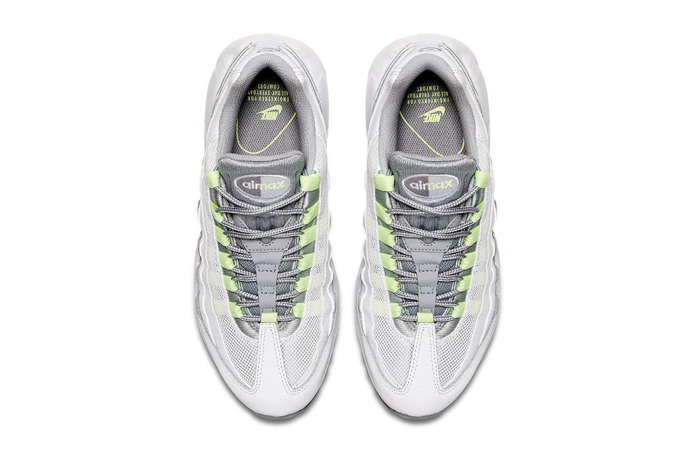 Nike Air Max 95 Neon yellow white Release date white air max unit outsole neon swoosh