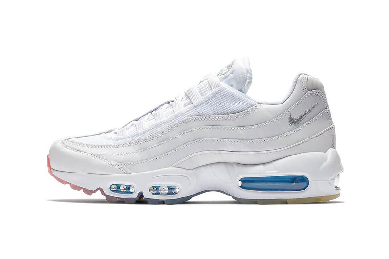 Nike Air Max 95 gradient sole white red blue release info sneakers footwear