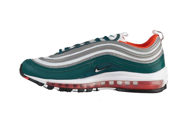 Nike Air Max 97 miami hurricanes footwear 2018 nike sportswear release date info drop