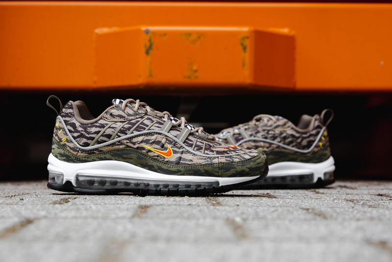 aa9f9d8738 Nike Air Max 98 tiger camo closer look nike sportswear 2018 footwear may 31  2018 release