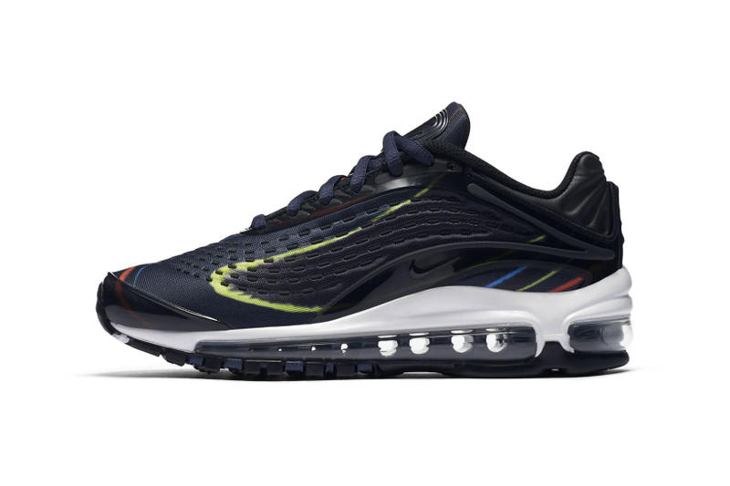 Nike Air Max Deluxe white black grey red midnight navy volt blue red nike sportswear 2018 footwear
