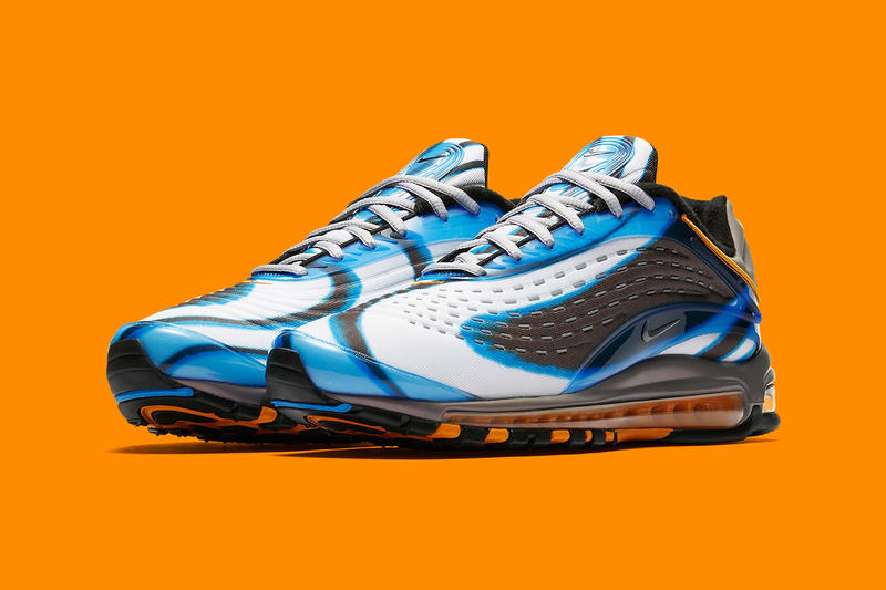 Nike Air Max Deluxe White Photo Blue Wolf Grey Orange Peel Black release info sneakers footwear