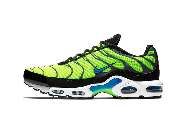 nike air max plus scream green nike sportswear 2018 june footwear