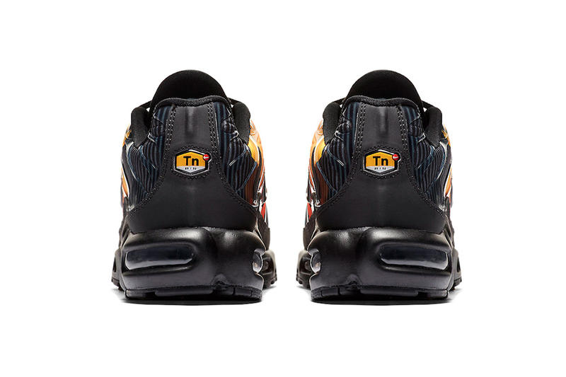 Nike Air Max Plus striped nike sportswear Branding footwear Black Orange