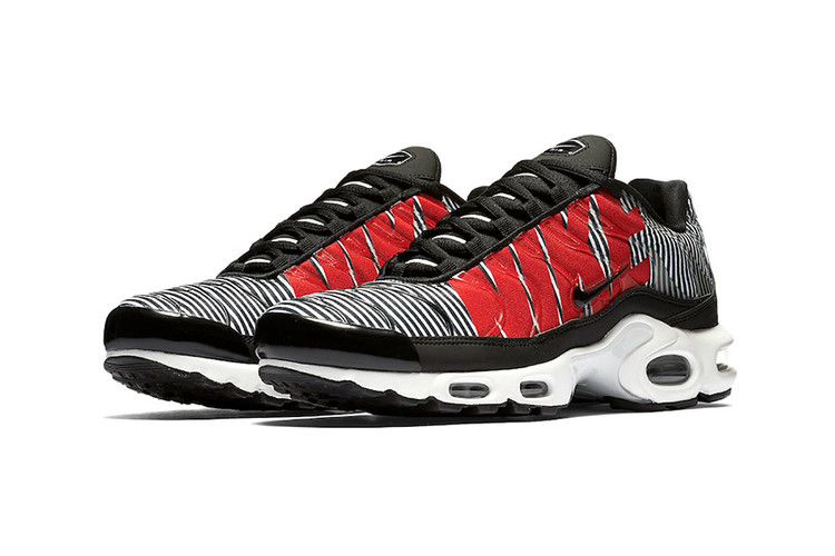 7f046f15f00b Nike Set to Introduce Exaggerated Branding   Striped Uppers to the Air Max  Plus