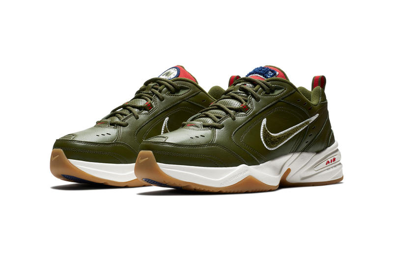 Nike air monarch iv Weekend Campout colorway drop green colorway june 11 2018 drop release info closer official look photo
