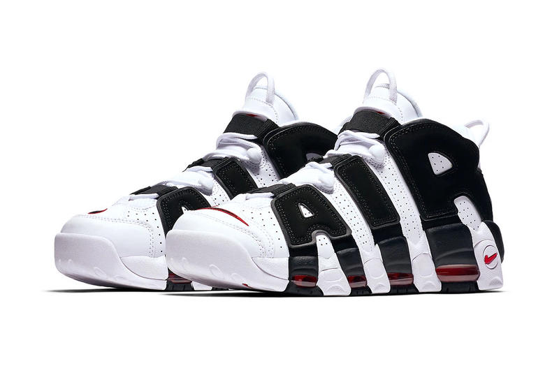 Nike Air More Uptempo chicago bulls scottie pippen release date info White Varsity Red Black sneakers footwear