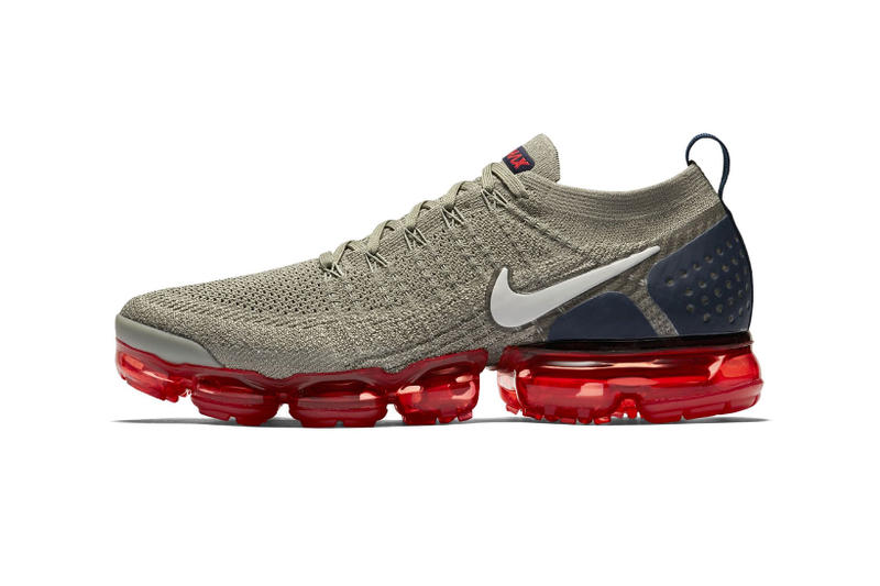 pretty nice f63db 928f0 Nike Air VaporMax 2 Neutral Olive navy red june july 2018 release date info  drop sneakers