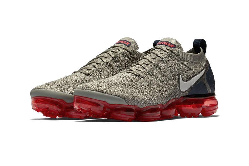 81b3db87803c Nike Air VaporMax 2 Neutral Olive navy red june july 2018 release date info  drop sneakers