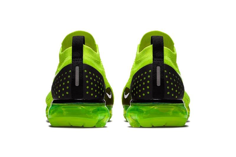 Nike Air VaporMax 2 Volt Release Date black sneakers footwear