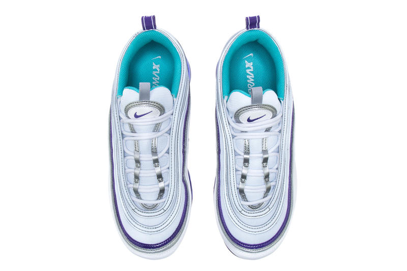 83f538d59a Nike Air VaporMax 97 Varsity Purple Metallic Silver Aqua Persian Violet  white release info sneakers footwear
