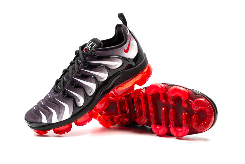 Nike Air VaporMax Plus Red Shark Tooth release info black sport red sneakers footwear