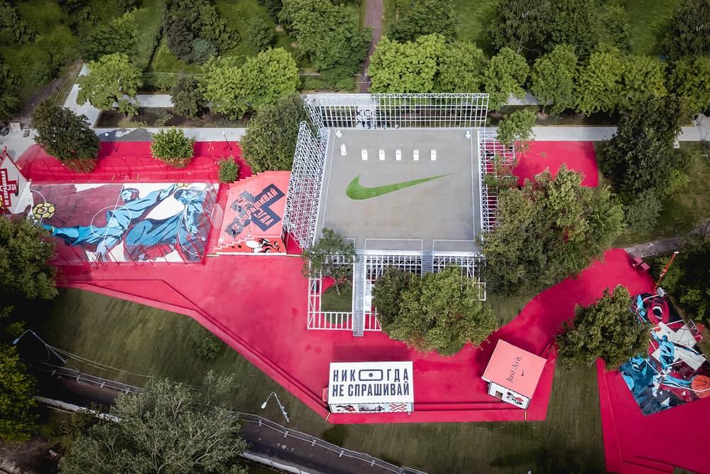 Nike Moscow Sports Facility Nike BOX Msk KOSMOS Architects Gorky Park soccer basketball running yoga