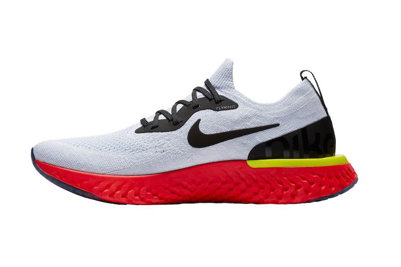 94d1174a6a4 Nike Epic React Flyknit True White Black Pure Platinum Bright Crimson Volt  release info sneakers footwear