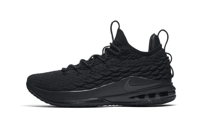 82b1e093914 Nike LeBron 15 Low triple black lebron james nike basketball 2018 footwear