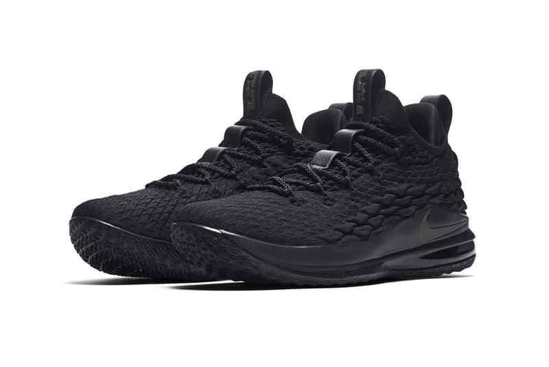 Nike LeBron 15 Low triple black lebron james nike basketball 2018 footwear