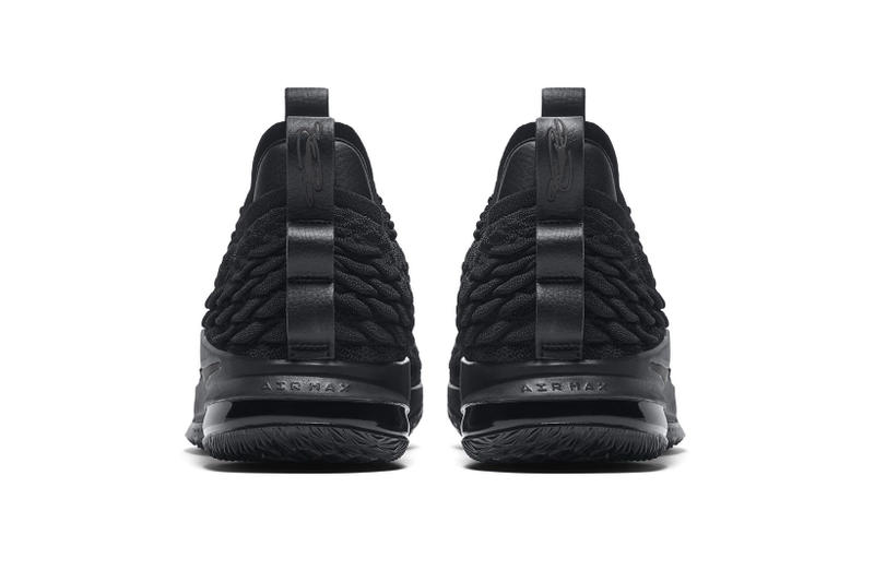 0c879ff61b244 Nike LeBron 15 Low triple black lebron james nike basketball 2018 footwear