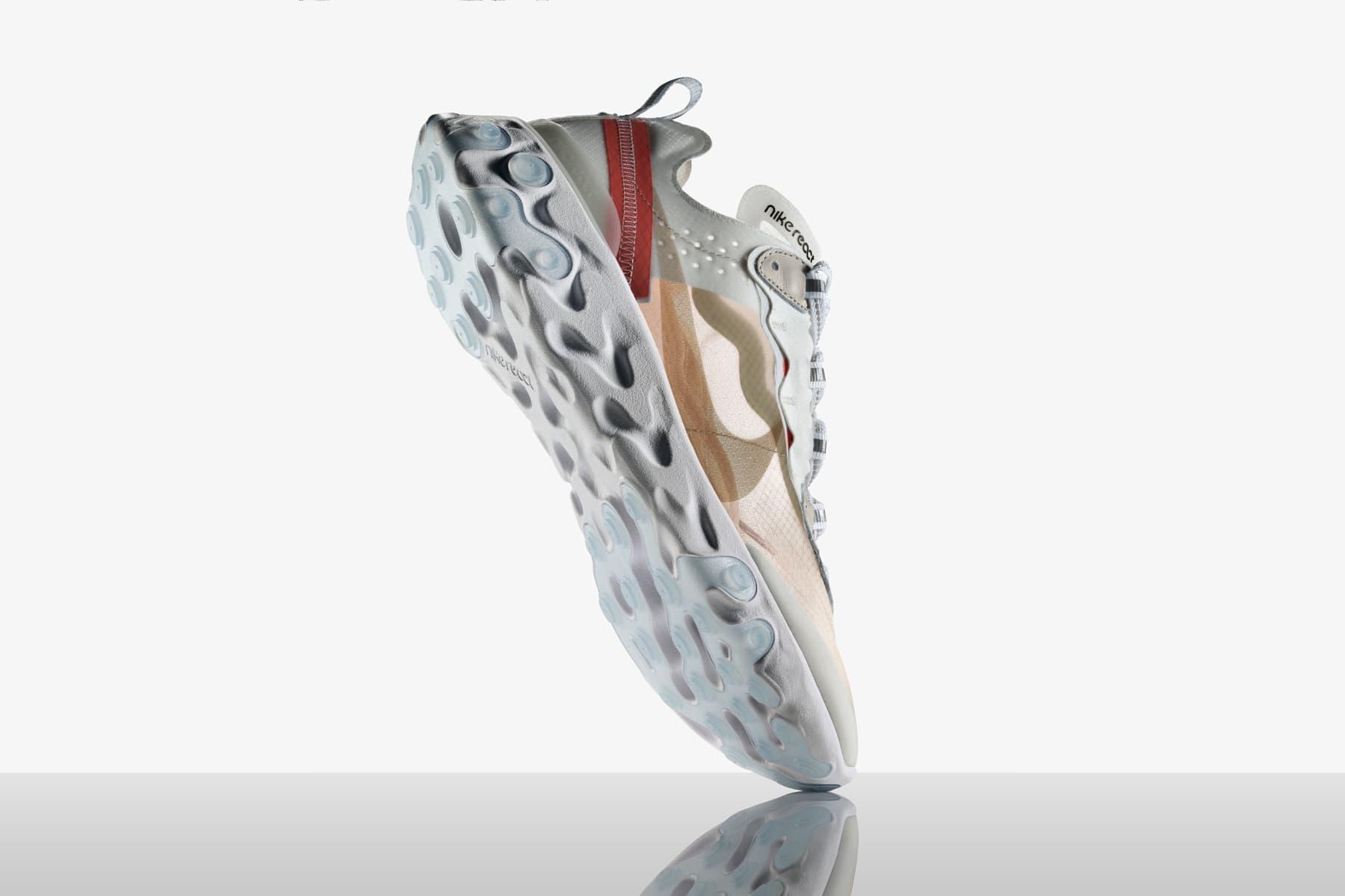 Resultado de imagen de Nike Officially Reveals the React Element 87 and Its Drill-to-Foam Design Process