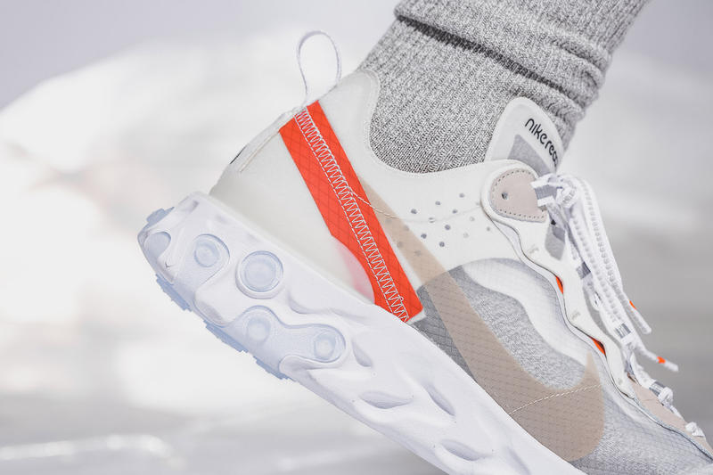 Nike React Element 87 On Foot Look Sail Light Bone Anthracite Black Release Info General