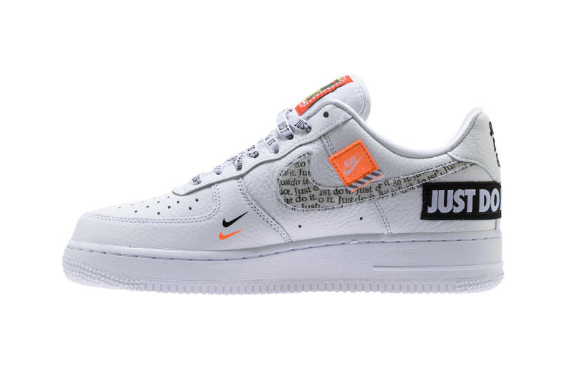 557b220fcb31 Nike Air Force 1 Low  07 Premium Just Do It pack white leather footwear  sneakers. 1 of 5. sneakerbardetroit