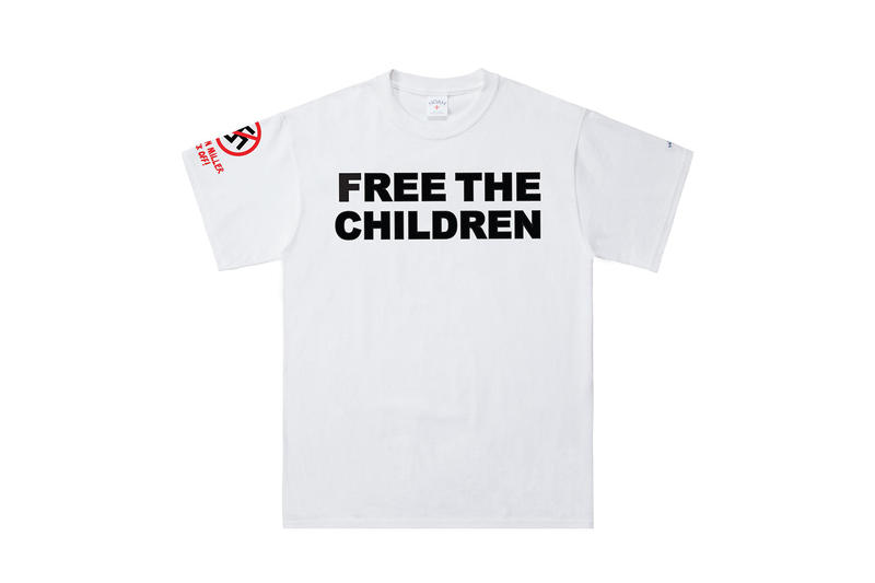 Noah NYC 'Free the Children' Tee Available Cop Purchase Buy Now $48 USD Pre-Order Stephen Miller Donald Trump Border Separations ICE