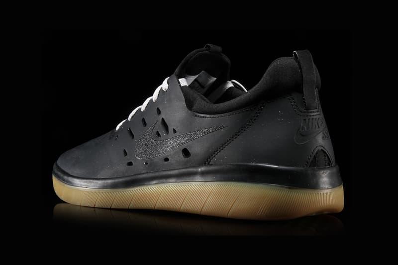 nike sb nyjah huston free black gum sole