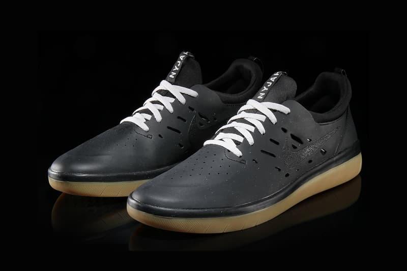 quality design 5114b 1f8c0 nike sb nyjah huston free black gum sole