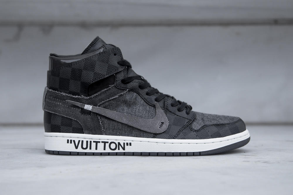 Off White Louis Vuitton Air Jordan 1 V2 Custom Ceeze Virgil Abloh