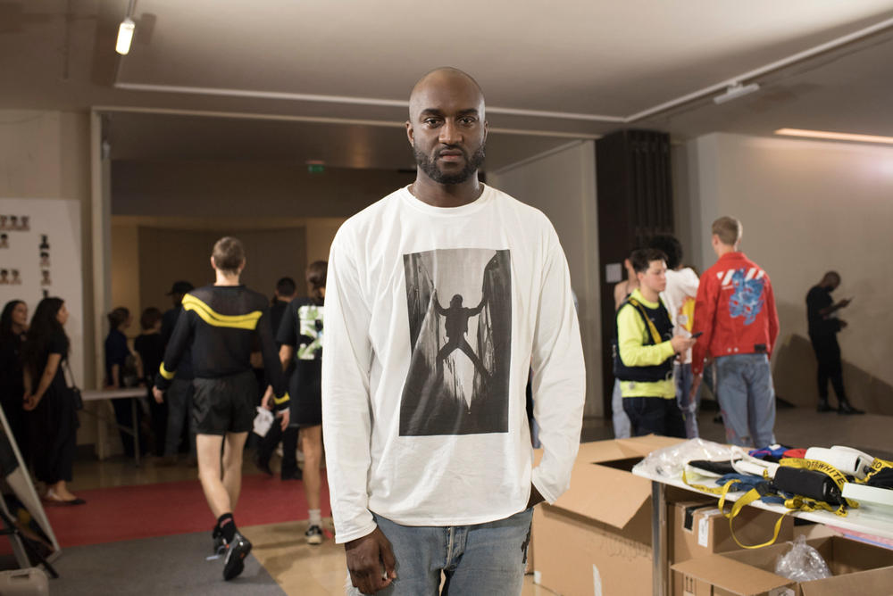 Off White Menswear Backstage Spring/Summer 2019 Show Paris Fashion Week Nike Dr. Martens The Simpsons Dondi White Graffiti Closer Look Collaboration Design Louis Vuitton