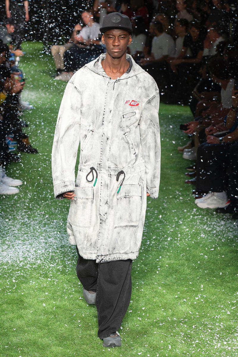 Off-White™ Spring Summer 2019 Collection runway paris fashion week virgil abloh doctor martens collaboration the simpsons bart dondi white graffiti street art