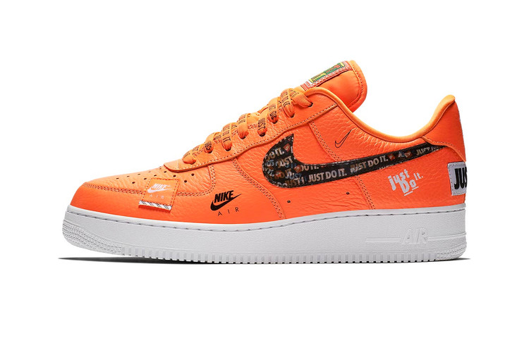 "new concept cdf53 79e4b Official Photos of Nike Air Force 1 ""Just Do It"" in Orange"