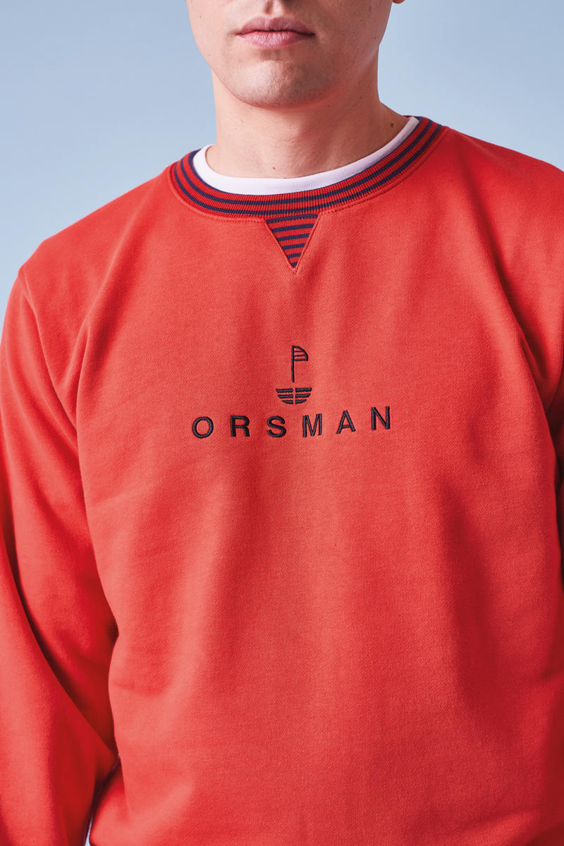 Orsman spring Summer 2018 Collection Lookbook clothing apparel outerwear coat jacket hoodie tee t-shirt crewneck sweatshirt rubgy fleech