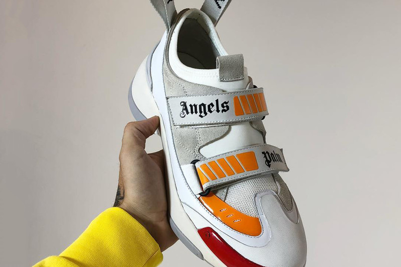 Palm Angels recently took to Instagram to preview a new sneaker model. The  unique low-top boasts a predominantly white and grey makeup alongside  orange ... 1964a518b