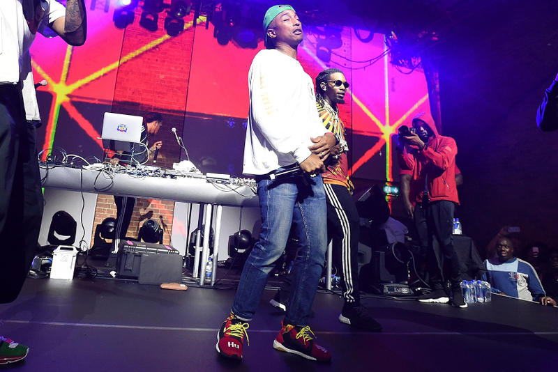Pharrell adidas P.O.D. S Solar Glide Hu ST collaboration launch event sneakers footwear BOOST Red Colorway London Event