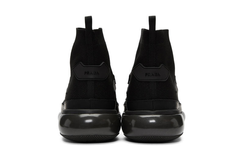 80020040d8bb Prada Cloudbust High Top Sneaker Sneakers Kicks Shoes Trainers Available  Purchase Buy Cop Now SSENSE Black