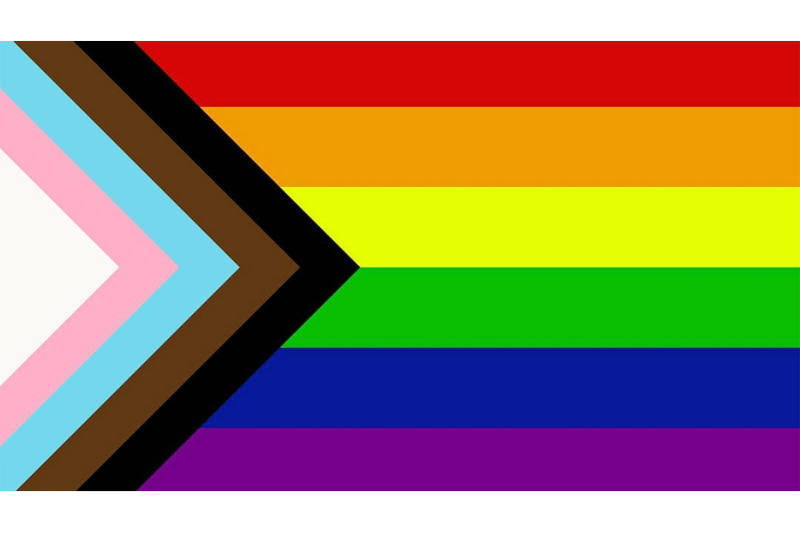 Pride Flag Redesign Daniel Quasar june 2018 chevron inclusion progression
