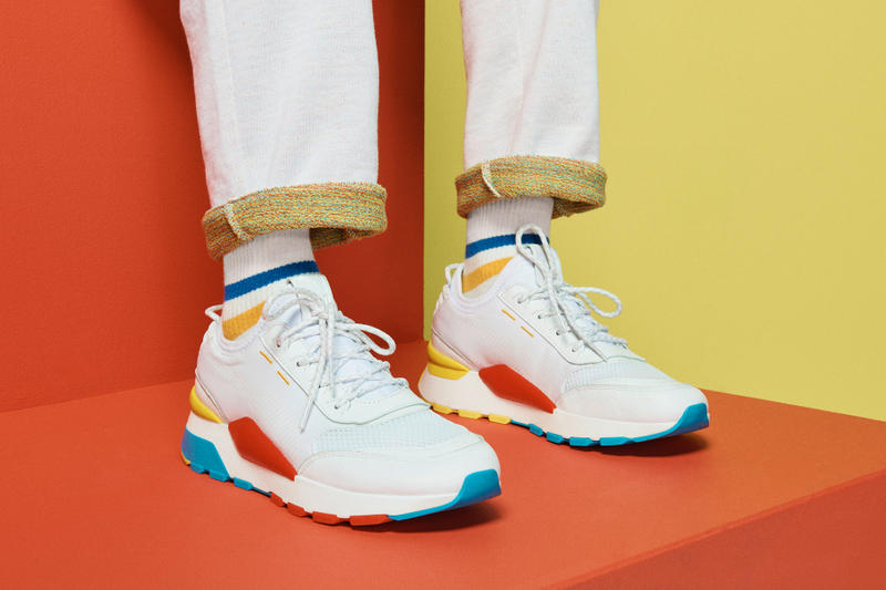 3964a273cda PUMA RS-0 Play shoes video games 80s nes nintendo pink white teal grey  yellow