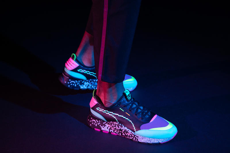 "PUMA RS-0 ""Game Error"" Release Info 2018 sneaker german running video games arcade neon hot pink deep purple black"