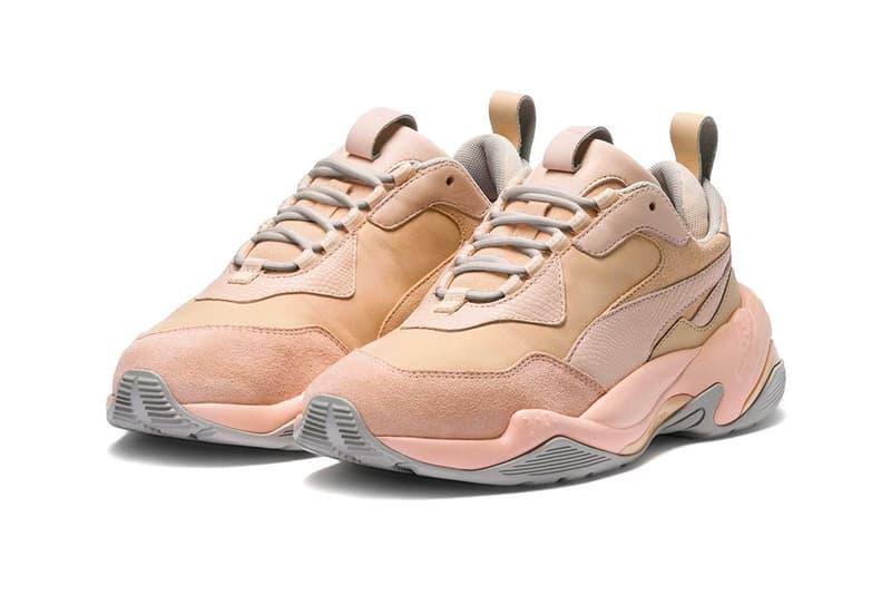 PUMA Thunder Desert 2018 release date info drop sneakers shoes footwear Mint Black White Particle Beige