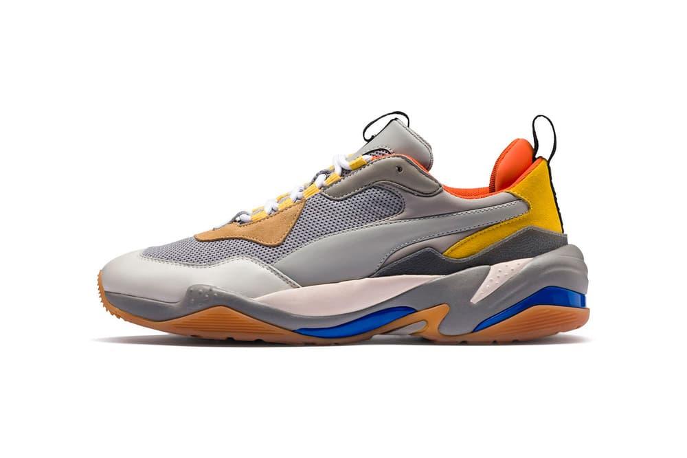 PUMA Thunder Spectra Grey orange Yellow Blue August 2018 release date info drop sneakers shoes footwear