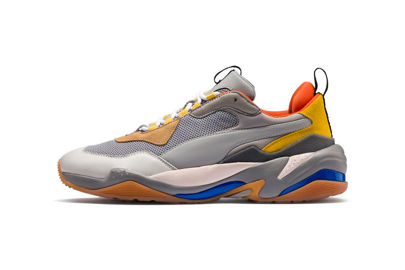 PUMA Thunder Spectra Grey orange Yellow Blue August 2018 release date info drop sneakers shoes footwear