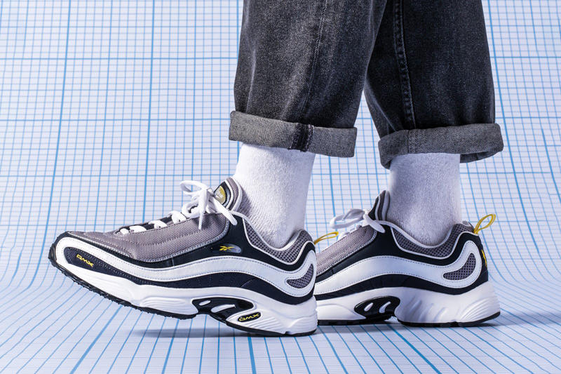 Reebok DMX Daytona OG Sneaker Silhouette return chunky clunky runner '90s style july 6 2018 hanon shop debut drop date info release launch on foot look