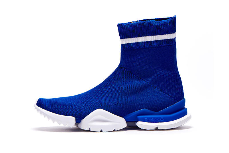 reebok reveals sock run.r and run.r 96 sneakers white blue white 2018 footwear