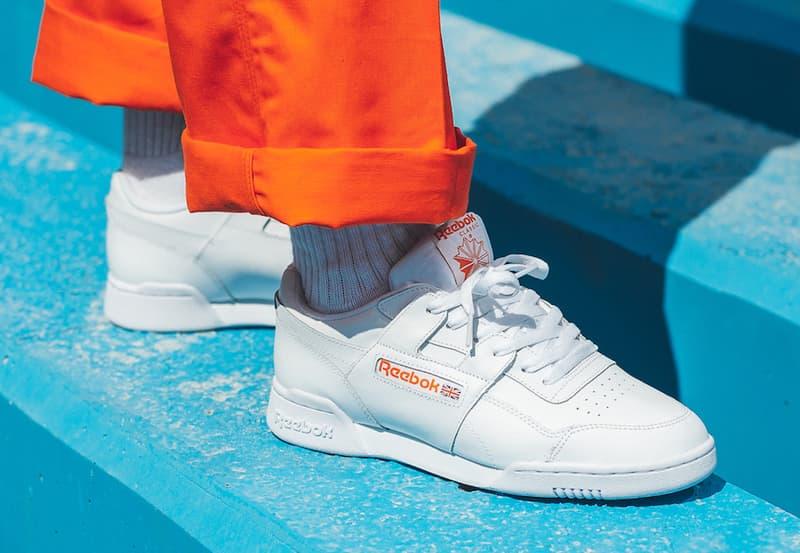 Reebok Workout Plus MU White Bright Lava Orange release info sneakers footwear